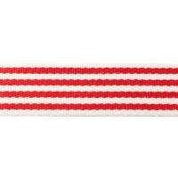 Tassenband Streep 40mm rood wit