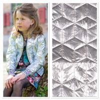 Gewatteerd zilver lame monochroom blok