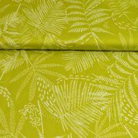 Micro satijn bladeren print lime