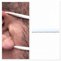 Bosje 10mtr 5mm elastiek zacht wit / mondkapjes