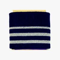 manchetten / cuffs gestreept donker blauw zilver  1.10 breed