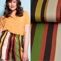 LMV modal streep print multi colors Exclusieve designer stof LA Maison victor