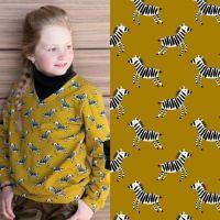 Soft sweater stof zebra  poppy 17