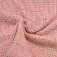 Gebreide stof ruit rose