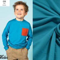 Soft sweater viscose petrol LA MAISON VICTOR