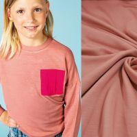 Soft sweater viscose oud rose LA MAISON VICTOR