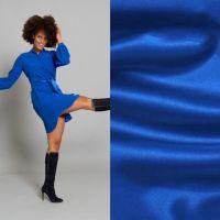 3mtr Crepe satijn kobalt blauw kleur 039 knipmode aanbieding oktober